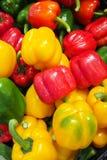 白色的背景接近的胡椒甜点 免版税库存照片