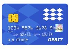 白色的银行信用卡借项查出的嘲笑 库存照片