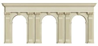 白色的经典柱廊 库存例证