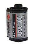 黑&白色的Agfa APX 400影片 免版税库存照片