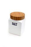 白色盐瓶子 库存图片