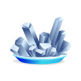 白色盐水晶 免版税库存图片