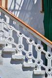 白色石楼梯 库存图片