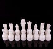 白色石头做了国际象棋棋局III 免版税库存照片