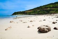 白色石头海岛  库存图片