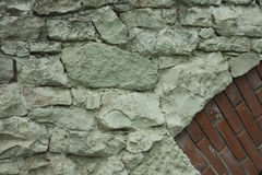 白色砌石桥梁片断  免版税库存照片