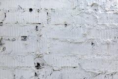白色砖和混凝土墙 背景 纹理 免版税库存图片