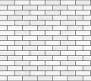 白色砖墙传染媒介无缝的纹理 库存照片