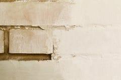 白色砖墙在整修时 图库摄影