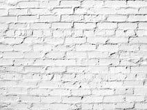 白色砖墙完善作为背景 库存图片