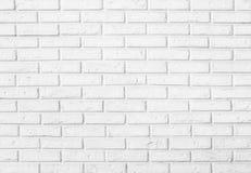 白色砖墙样式背景 免版税图库摄影