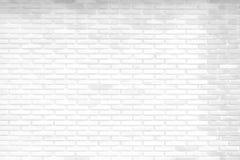 白色砖墙纹理和背景 库存照片