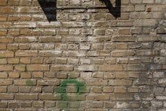 白色砖墙纹理或背景 库存照片