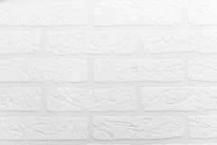 白色砖墙纹理背景 免版税库存照片