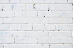 白色砖墙纹理背景 免版税图库摄影
