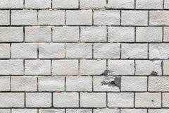 白色砖墙纹理背景 免版税库存图片