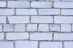 白色砖墙背景在农村屋子里, 免版税库存照片