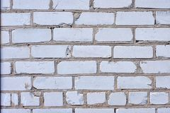 白色砖墙背景在农村屋子里 库存图片