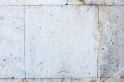 白色砖墙,难看的东西背景 安置文本 免版税库存照片
