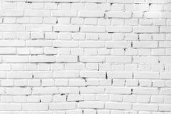 白色砖墙 免版税库存图片