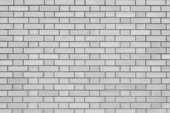 白色砖石墙无缝的背景 免版税库存图片