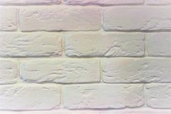白色砖砌关闭 库存照片