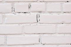 白色砖纹理背景 免版税库存图片