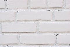 白色砖纹理背景 免版税图库摄影