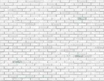 白色砖背景 向量 向量例证