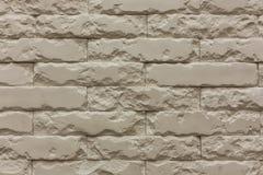 白色破碎石块砖墙水平的样式纹理背景 免版税库存照片