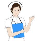 白色礼服的护士 免版税图库摄影
