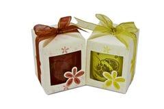 白色礼物盒 免版税图库摄影