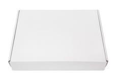 白色空白的纸盒薄饼箱子 库存照片