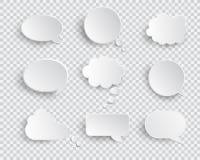 白色空白的讲话泡影被隔绝的传染媒介集合 向量例证
