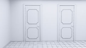 白色空的室 库存图片