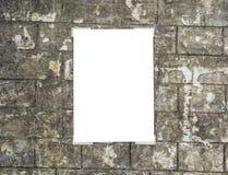 白色空的招贴 库存图片