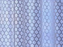 白色窗帘梯度 免版税库存图片