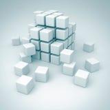 白色立方体块配合建筑概念 向量例证