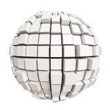 白色立方体球形 库存图片