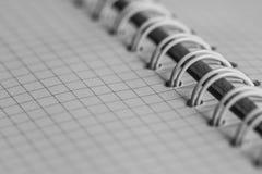 白色笔记本 免版税库存照片