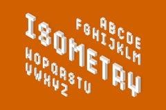 白色等量3d字体 免版税图库摄影