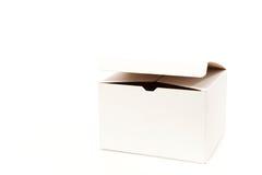 白色箱子空缺数目 免版税库存图片