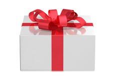 白色箱子,正面图 免版税库存图片