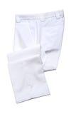 白色精神长裤 免版税库存图片