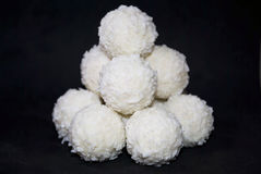 白色糖果用椰子 免版税图库摄影
