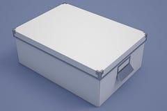 白色纸板储藏盒 库存照片