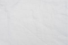 白色纺织品纹理背景 免版税图库摄影