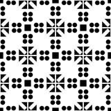 白色背景和黑色repeted光点图形 库存照片