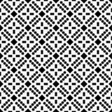 白色背景和黑色repeted光点图形 图库摄影