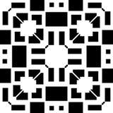 白色背景和黑色repeted光点图形 库存图片